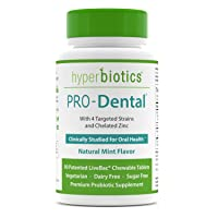 PRO-Dental: Probiotics for Oral & Dental Health—Freshens Breath at Its Source—Top Oral Probiotic Strains Including L. salivarius and L. paracasei—Sugar Free (Chewable)—90 Day Supply