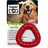 Super Dog Rubber Triangular Chew Toy, Color May Vary