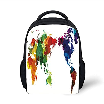 a41938a61096 Amazon.com: iPrint Kids School Backpack Colorful,Rainbow Colored ...