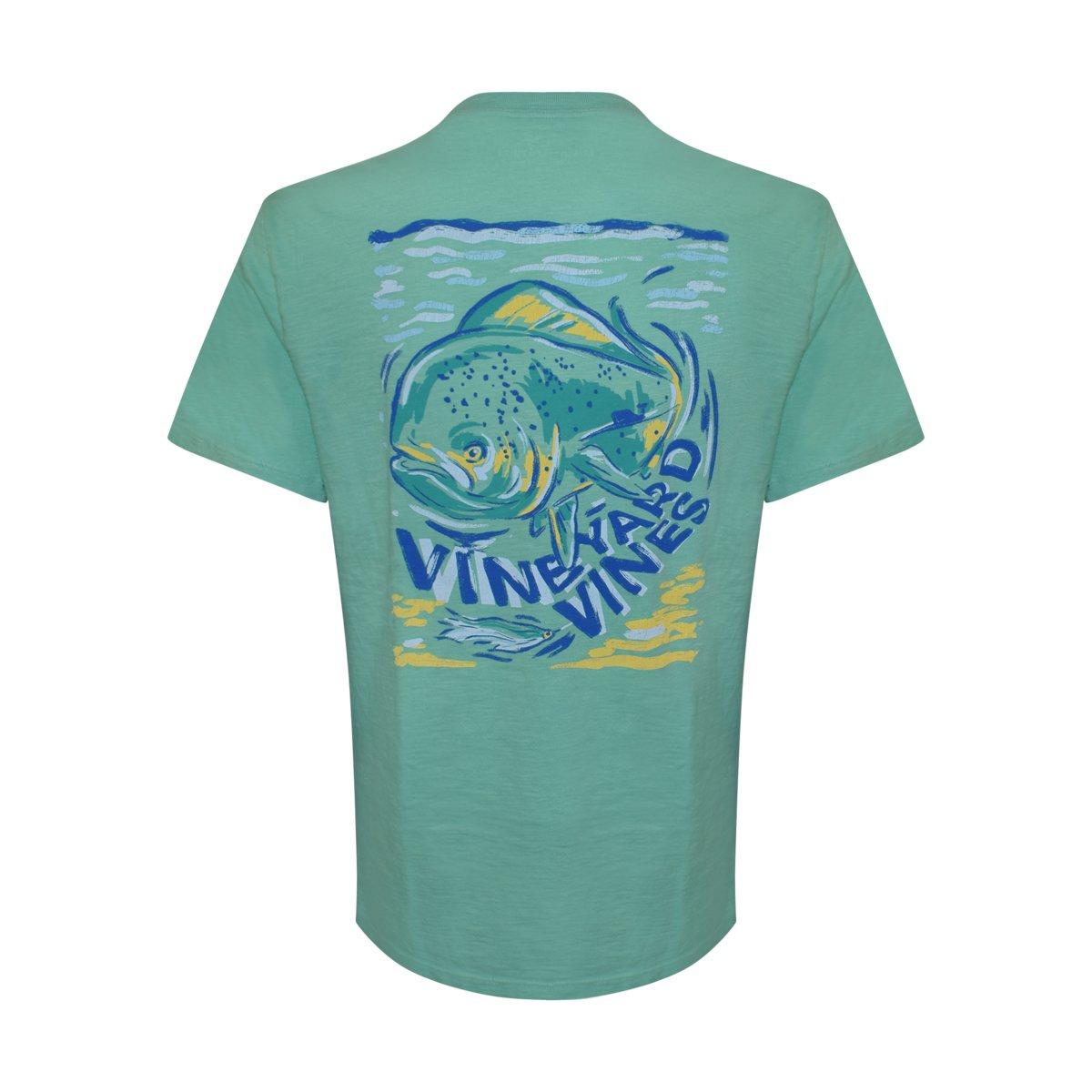 Vineyard Vinesメンズ半袖City Whale Teeシャツ B07DCW86GH Large|Antigua Green/Painted Mahi Antigua Green/Painted Mahi Large