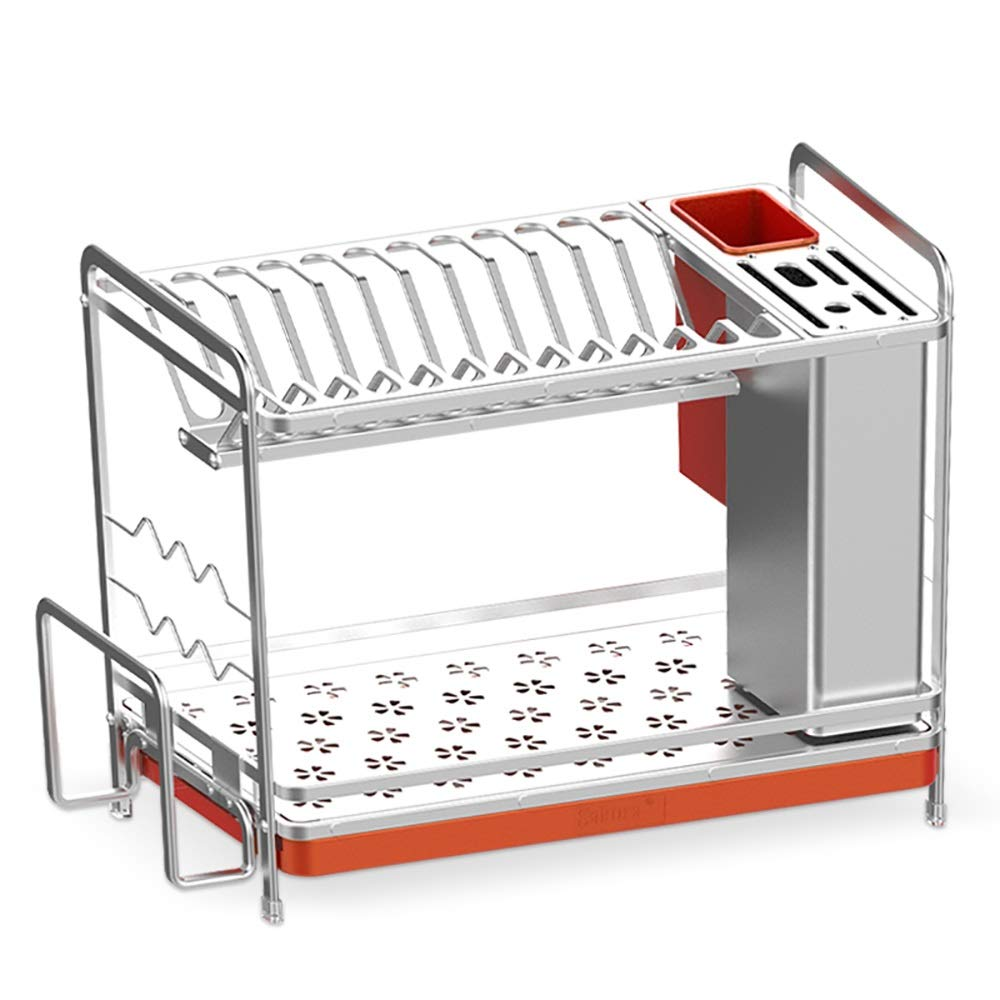 Removable kitchen Storage Basket ,Cutlery Drainage Rack - Tableware And fork Cups Can Be Safely Placed.2 layer