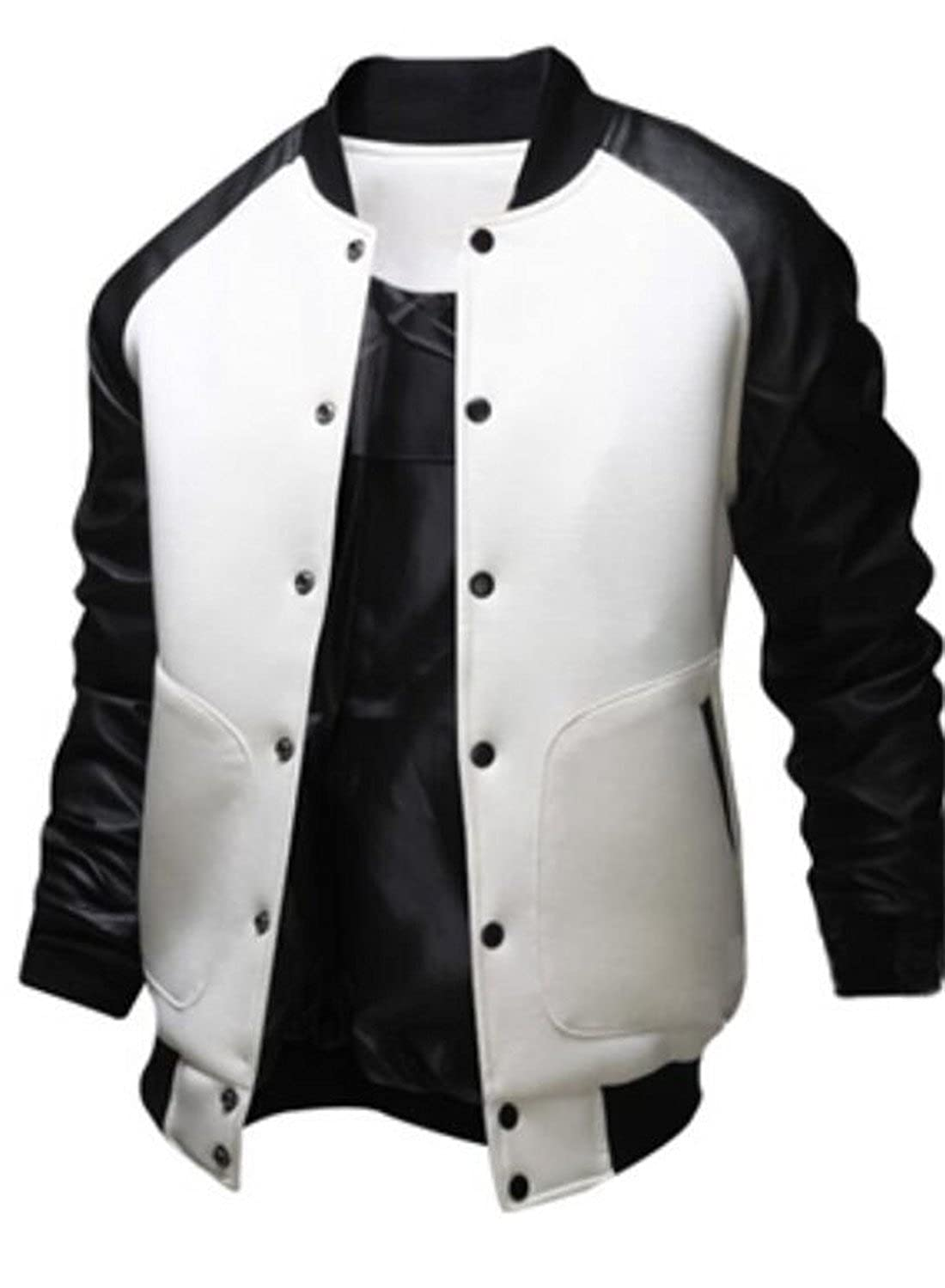 GRMO-Men Varsity Bomber Jackets Letterman Jacket Baseball Jacket Outwrear