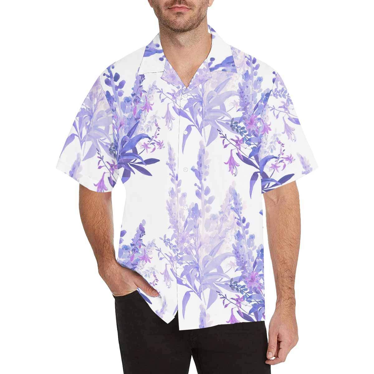 InterestPrint Mens Wildflowers Floral Tees Tops T-Shirts