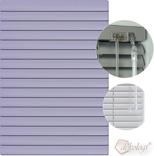 Caja de transporte de aluminio persiana de 180 x 140 cm (anchura x altura) - Láminas de colour de 1414 de colour lila // Tamaño compatible con Alu veneciana de estor plisado: Amazon.es: Hogar