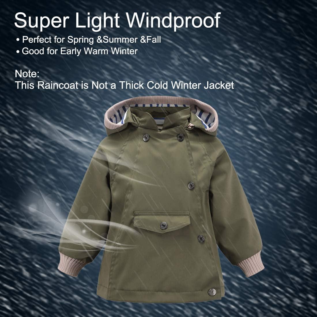 ACESTAR Boys Girls 100/% Waterproof Rain Coat Jacket Windproof Raincoat Outwear Jacket