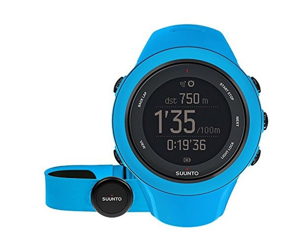 Suunto Ambit3 Sport HR Monitor Running GPS Unit, Blue by Suunto