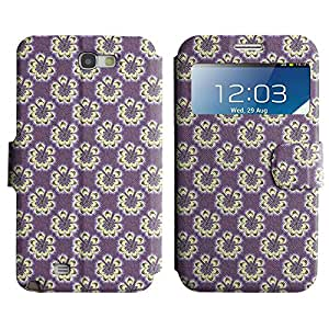 LEOCASE flor linda Funda Carcasa Cuero Tapa Case Para Samsung Galaxy Note 2 N7100 No.1004012