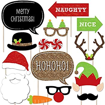 amazon com big dot of happiness christmas party photo mustache clip art printables moustache clipart border