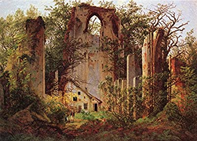 Ruins of the Monastery Eldena near Greifswald by Caspar David Friedrich. 100% Hand Painted. Oil On Canvas. Reproduction. (Unframed and Unstretched).