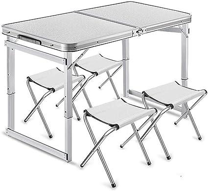 Mesas Plegables Taburetes De Metal, Aluminio Altura Ajustable ...