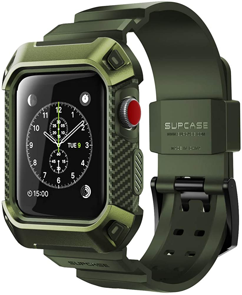 Apple Watch 3 Case 38mm, SUPCASE [Unicorn Beetle Pro] Rugged Protective Case with Strap Bands for Apple Watch Series 3 2017 Edition 38mm, [Compatible with Apple Watch 38mm 2015 2016 ]
