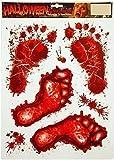 Bloody Footprints & Blood Splats Halloween Clings Decoration