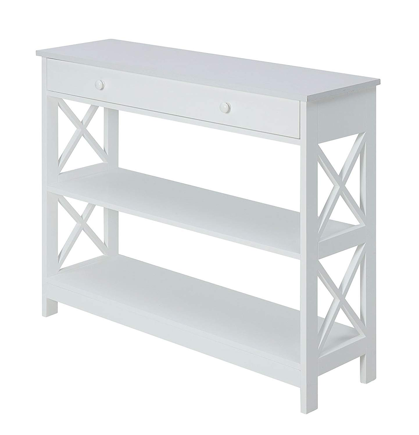 Convenience Concepts Oxford 1-Drawer Console Table, White by Convenience Concepts
