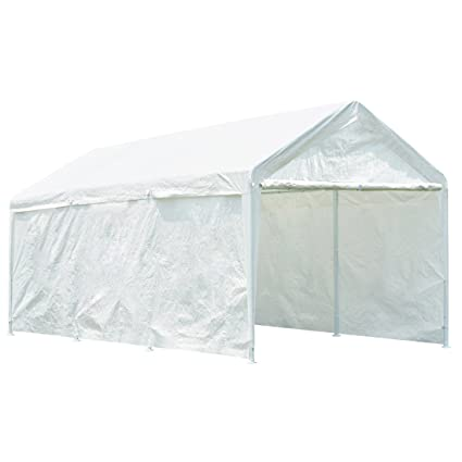 Quictent 20u0027 X 10u0027 Heavy Duty Carport Gazebo Canopy Party Tent Garage Car  Shelter