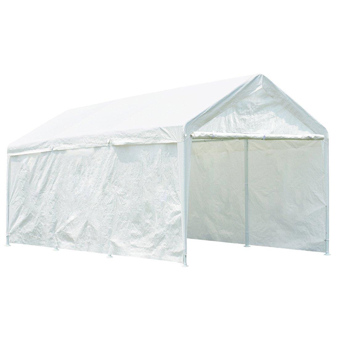 Quictent 20' x 10' Heavy Duty Carport Gazebo Canopy Party Tent Garage Car Shelter White