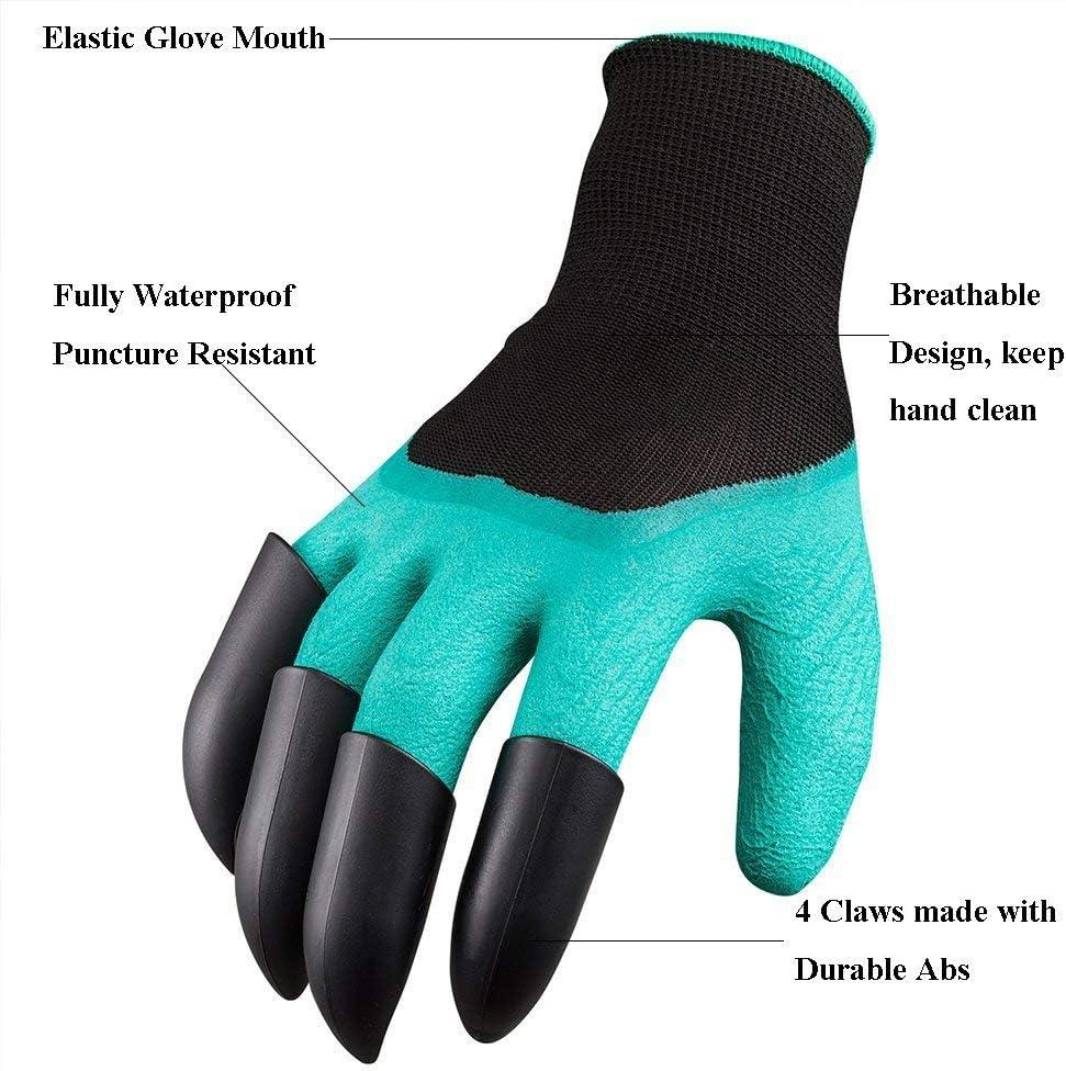 Promise2134 Garden Gloves Eagle Claw Plastic Shell Garden Digging Gloves Outdoor Garden Flower Grasp Soil 4 Claw 8 Claw Green
