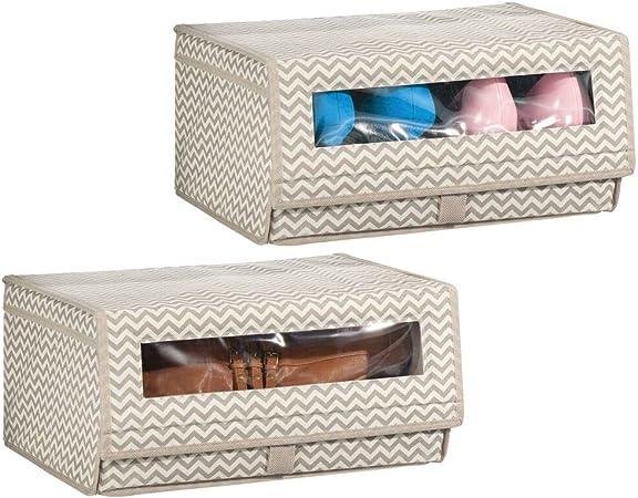 MetroDecor mDesign - Caja de almacenaje para Zapatos, Botas ...