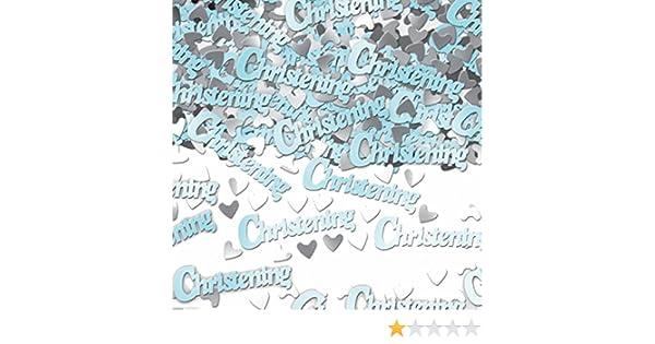 Blue Metallic Christening Confetti 14 grams