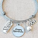2018 RETIREMENT Gift Bangle Bracelet, Find Joy in the Journey Congratulations Gift, 2018 Retirement Bracelet, Happy Retirement Gifts for Women