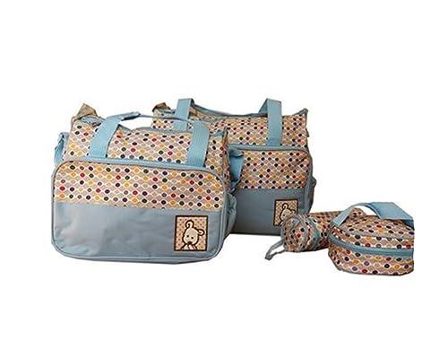 5 Piezas Bebé Cambio De Bolsa Bolsa De Pañales Del Bebé Bolsa Impermeable Cielo azul