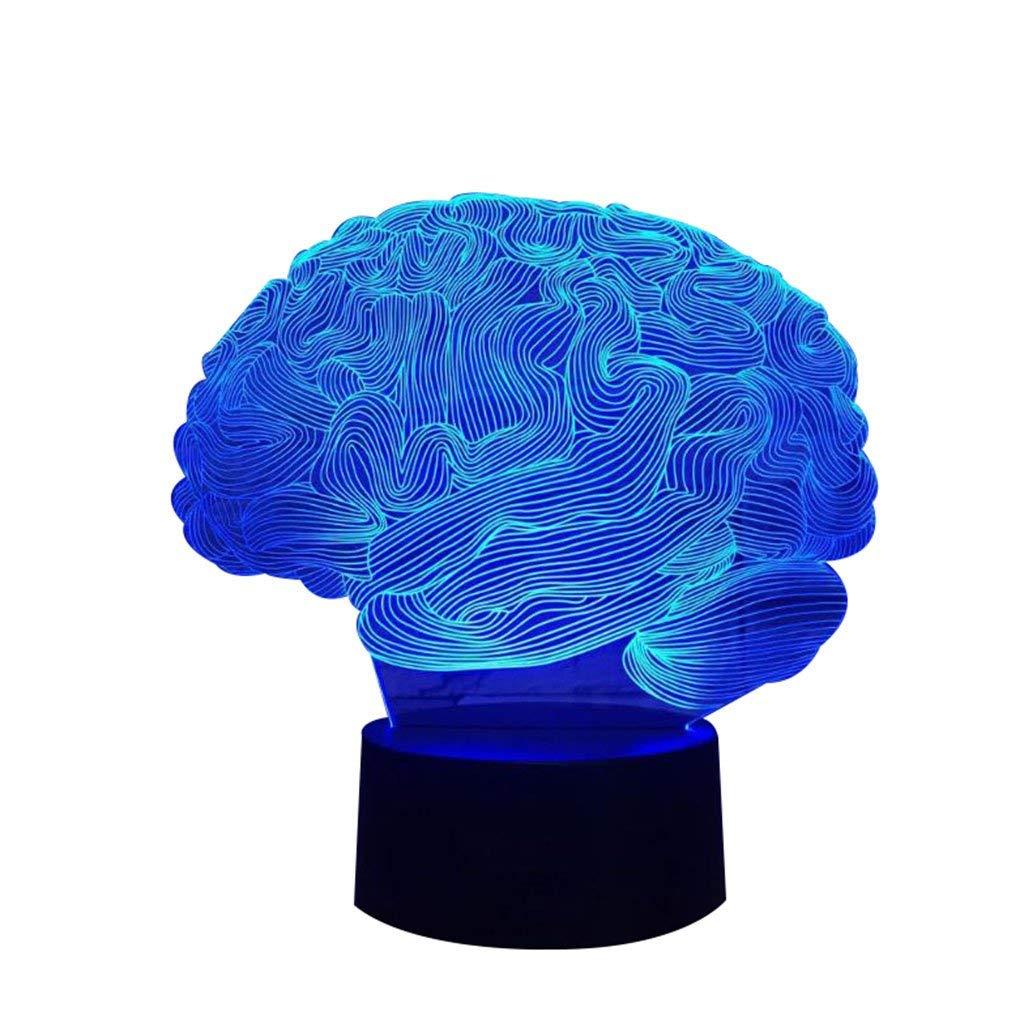 Eeayyygch Brain Modeling 3D Lichter Kreative Geschenke Acryl LED Augenlampe Nachtlicht Exotische Dekorative Lichter