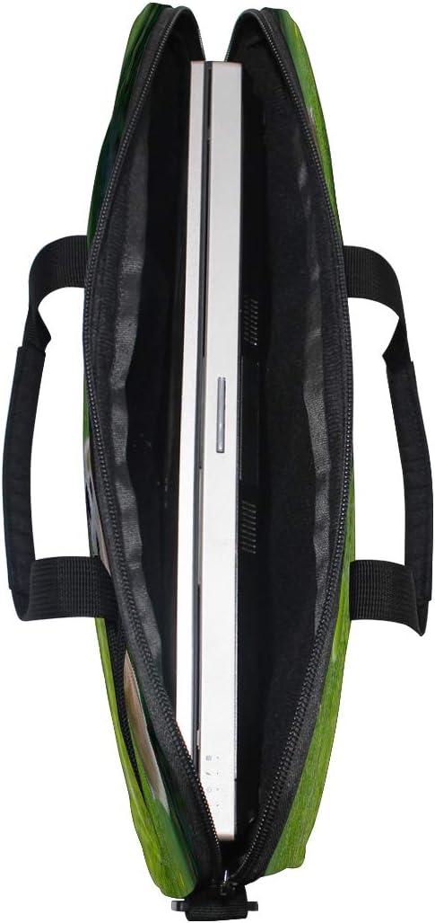 Briefcase Messenger Shoulder Bag for Men Women College Students Business PEO Laptop Bag Corgi Catches Ball On Green Summer 15-15.4 Inch Laptop Case