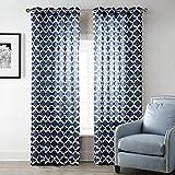 Uphome 1pc White Solid Ruffle Window Curtain Panels - Rod Pocket Semi-blackout Living