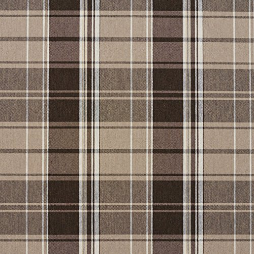 - E802 Taupe Classic Plaid Jacquard Upholstery Fabric by The Yard