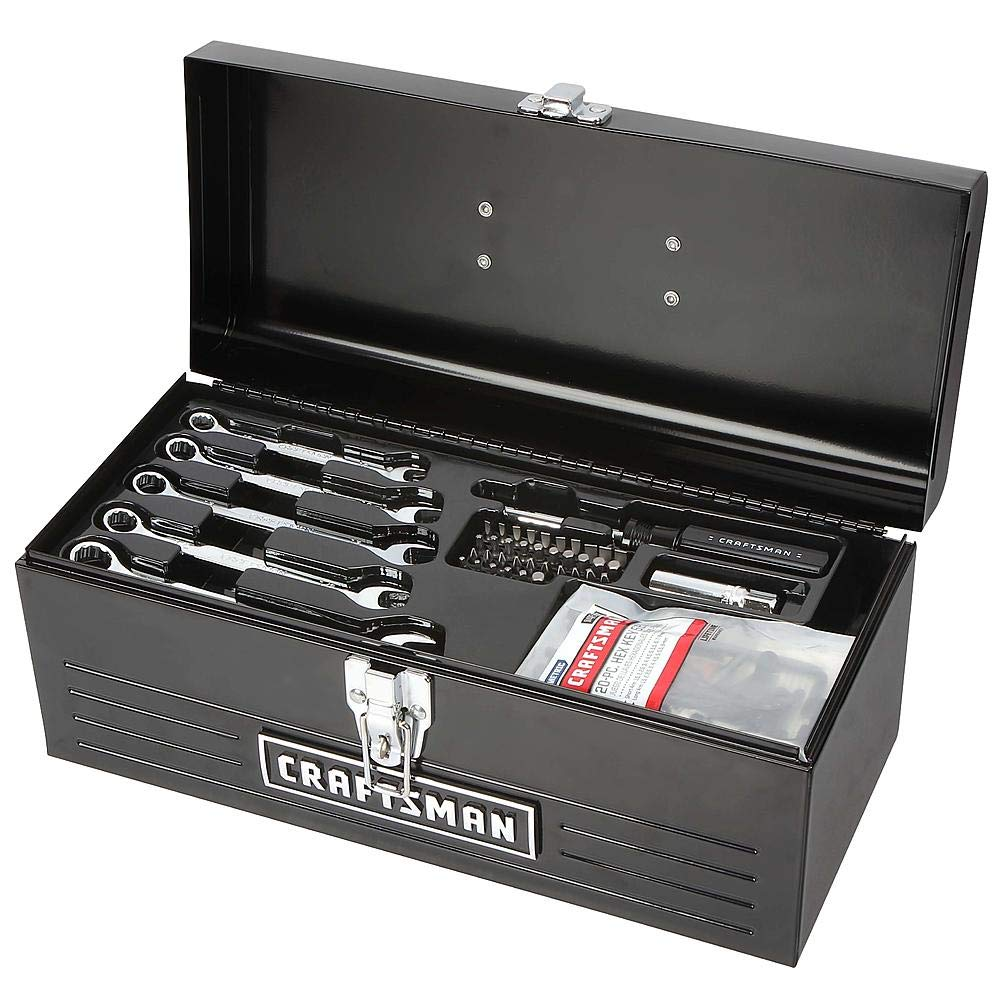130pc Mechanics Tool Set With 16'' Metal Hand Box by Craftsman!