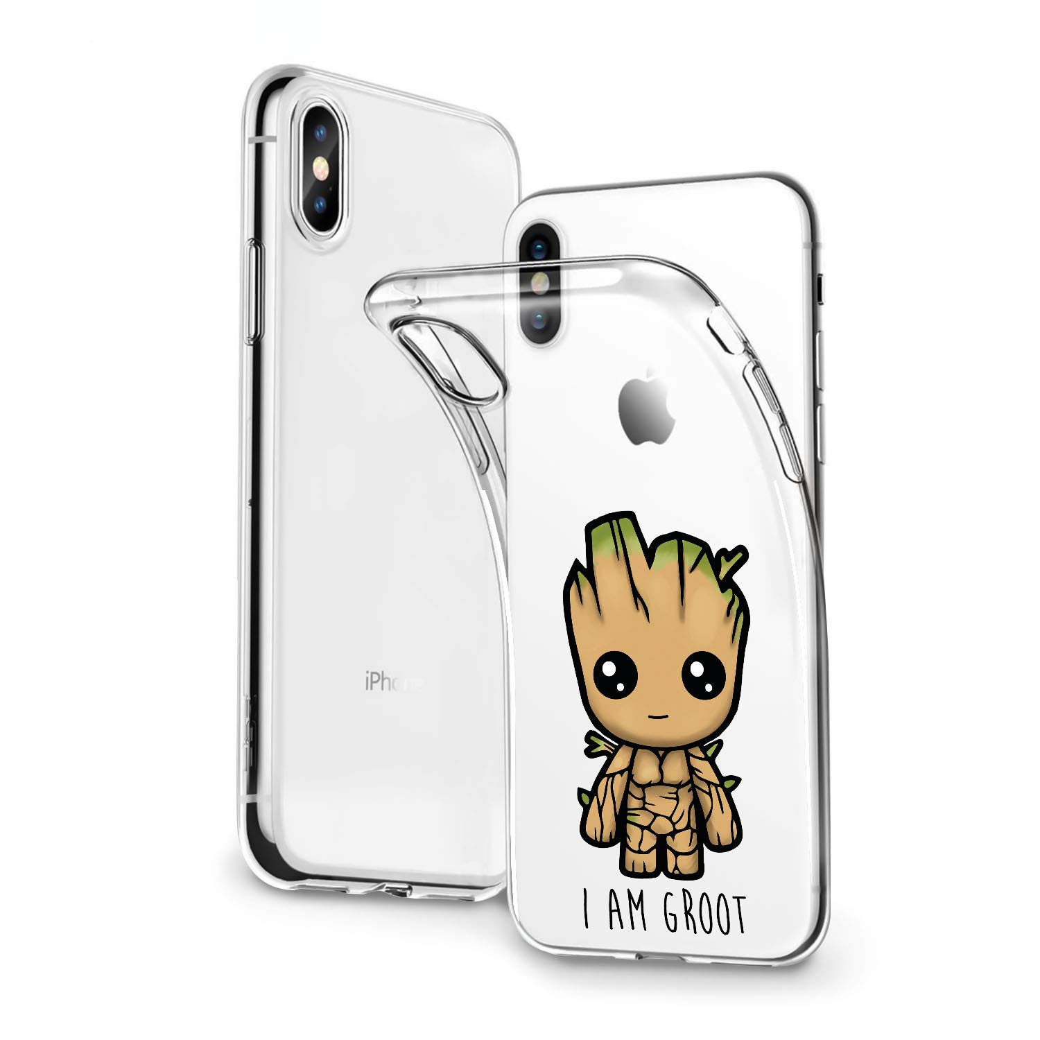 Lex Altern Case Iphone X Xr 8 Plus 7 6s 6 Se 5s 5 Tpu Clear Groot Cute Silicone Guardians Galaxy Phone Superhero Cover Kawaii Xs Max Protective Marvel