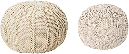 Christopher Knight Home Agatha Knitted Cotton Pouf