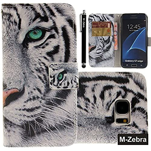 Galaxy S7 Edge Case, Galaxy S7 Edge Wallet Case, M-Zebra S7 Edge Wallet Case [Wallet Function] Flip Cover Leather Sales