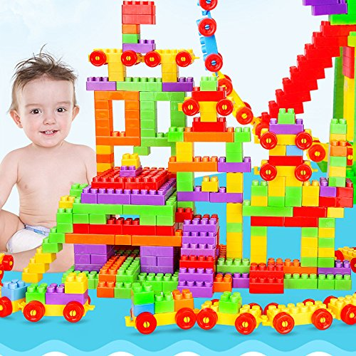 160PCS Classic Big Bricks , Building Bricks for Toddlers , Building Blocks Compatible with All Major Brands, Inspire Children Unlimited Creativity by Tuang