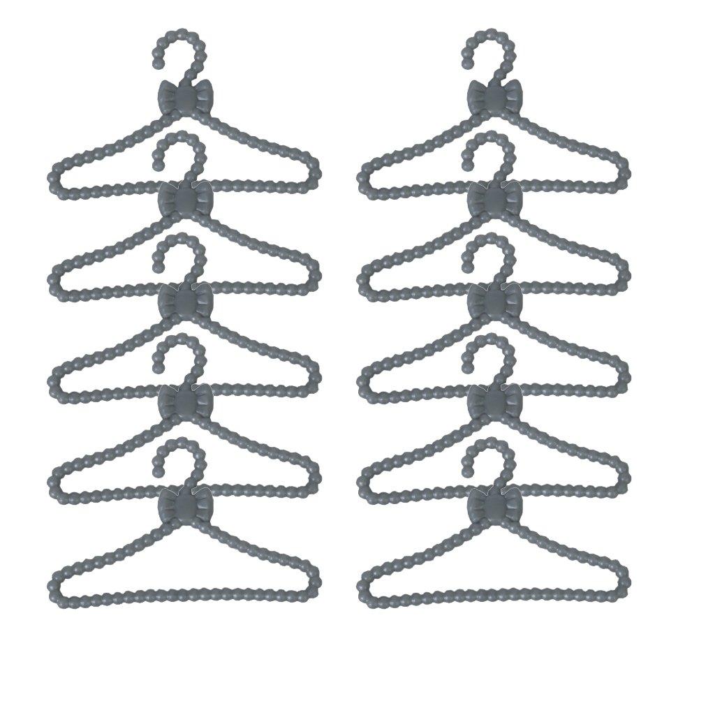 12 Stück Kunststoff großen Kleiderständer Kleiderbügel für Puppen Generic