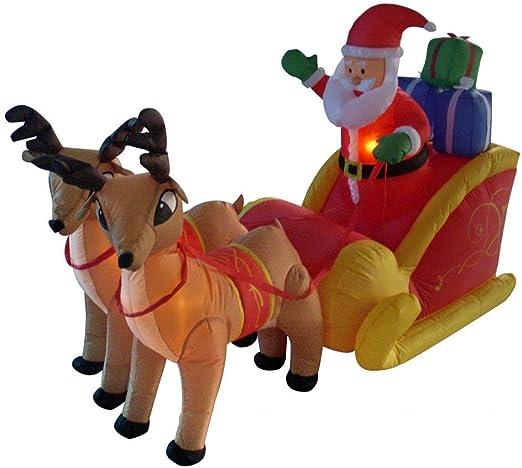 Amazon.com: Papá Noel hinchable de Navidad de 6.0 ft de ...