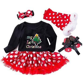 6587a3e4e9df Amazon.com   Baby Girls  Christmas Skirt Sets Newborn Baby Girls ...