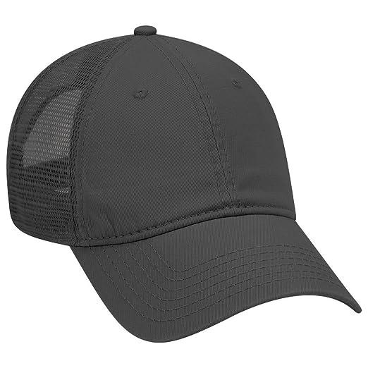 5609b445c OTTO Garment Washed Cotton Twill 6 Panel Low Profile Mesh Back Trucker Hat