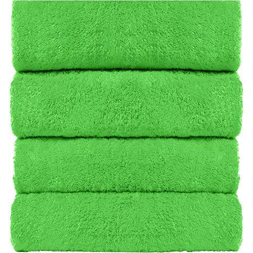 West LA Store Turkish Cotton 4-Piece Large Towels for Bath, Lime -