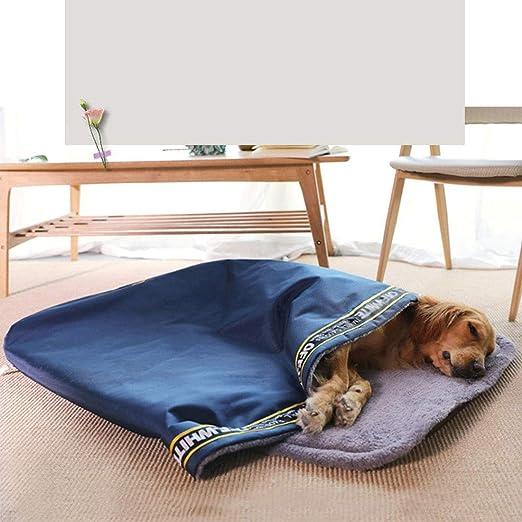 YUENA CARE Saco de Dormir para Perro de Tamaño Grande - Cama para Mascotas Cálido Cómodo para Invierno contra Viento y Lluvia Práctico para Viaje M: ...