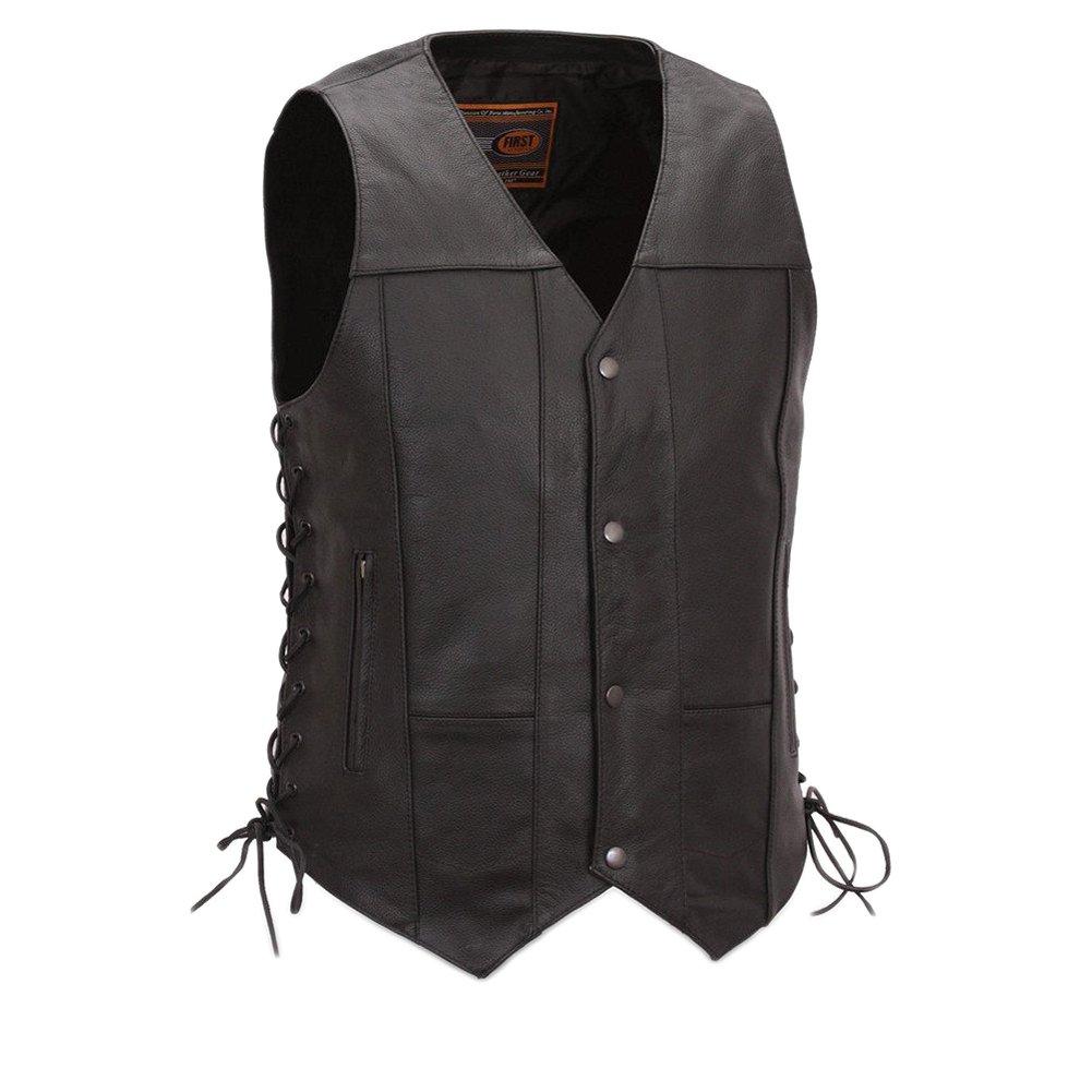 First Manufacturing Men's 10-Pocket Vest (Black, XX-Large)