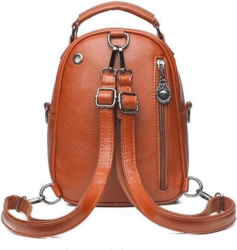 JUCHENG-TP Zaino PU Fashion Shell Daypack per Scuola Viaggio Lavoro (Color : Brown) Black