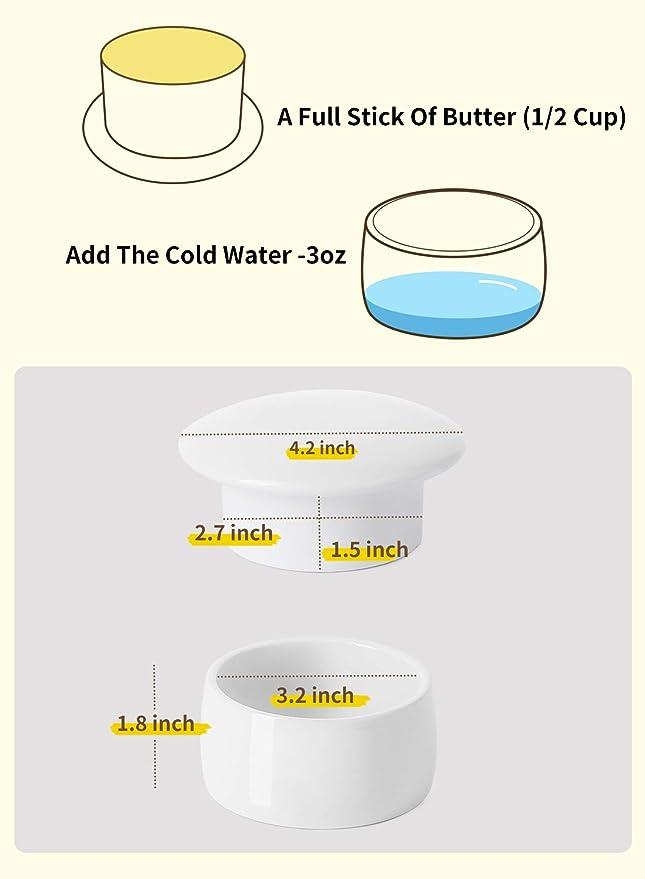 Amazon.com: Mantequilla de porcelana con diseño de chupete ...