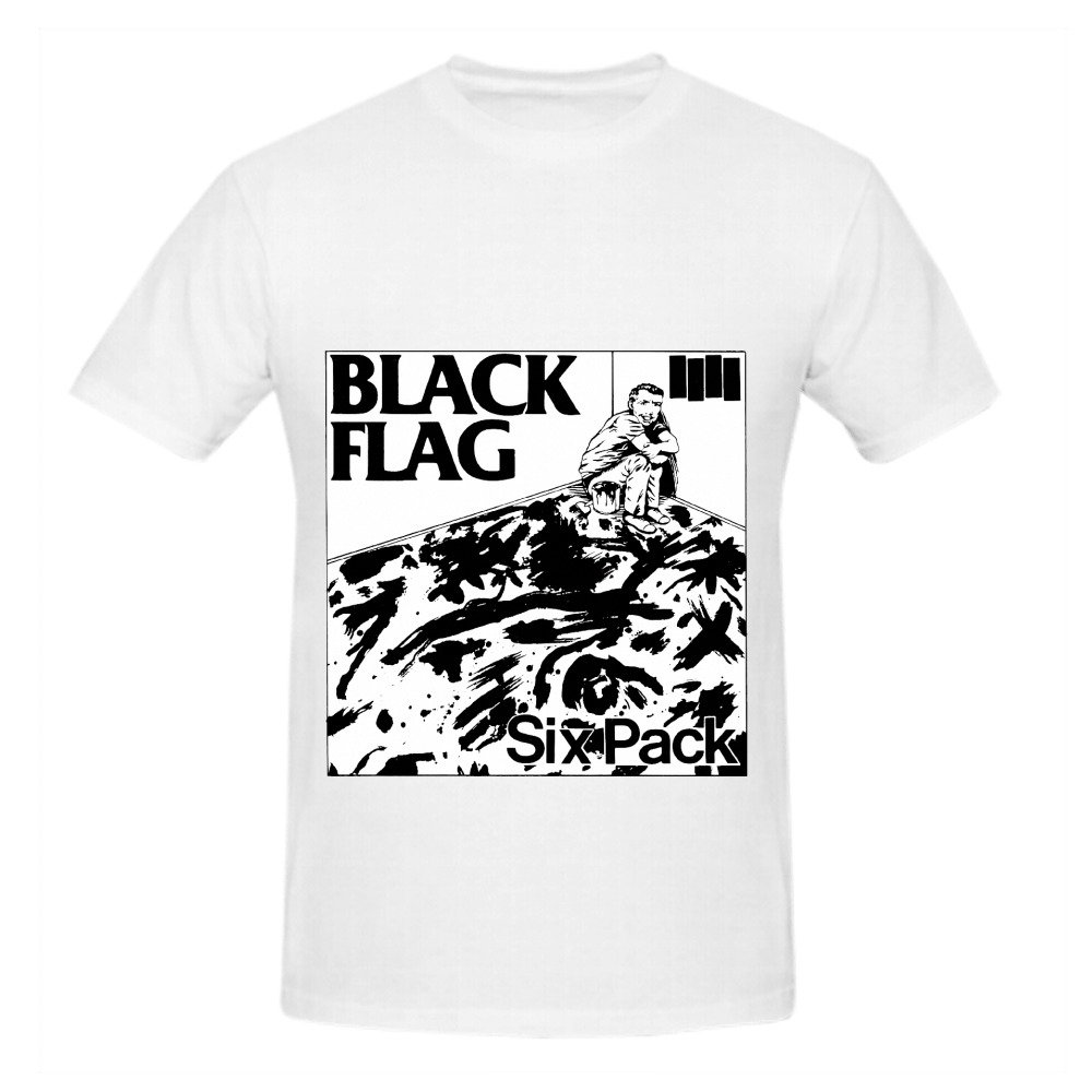 23c3f3ed9 Black Flag Six Pack Funk Album Cover Men Crew Neck 100 Cotton Tee Shirts  Medium: Amazon.co.uk: Clothing