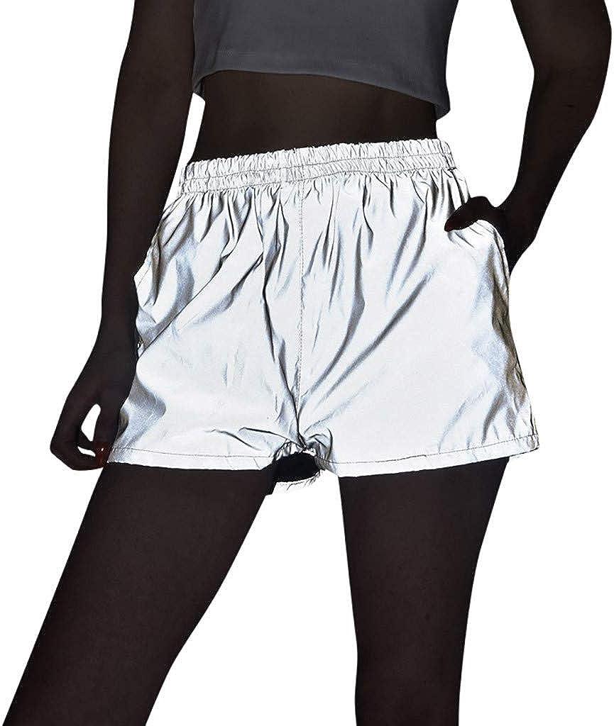 FRAUIT Pantalones Reflectantes De Noche para Mujer Pantalones ...
