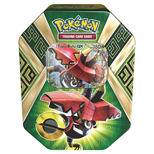 Pokemon TCG Sun & Moon Guardians Rising Collector's Tin, Containing 4 Booster Packs and Featuring a Foil Tapu Bulu-GX by Pokémon
