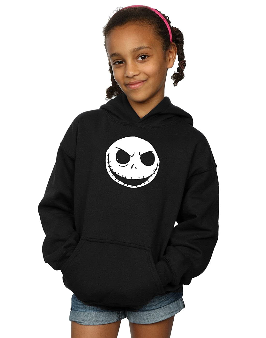 Disney Girls Nightmare Before Christmas Jack Skellington Face Shirts