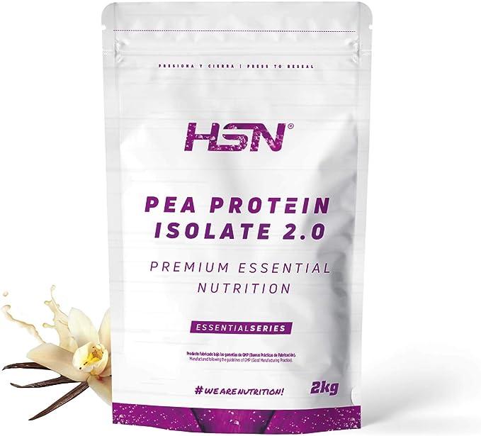 Proteína de Guisante Aislada de HSN | Vegan Protein | Pea Protein Isolate | Edulcorada con Estevia | Vegano, Sin Lactosa, Sin Gluten, Sin Azúcar, Sin ...