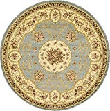 Unique Loom Versailles Collection Traditional Classic Light Blue Round Rug (8′ x 8′) Review