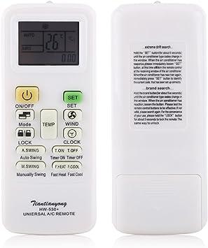 Mando a distancia universal para aire acondicionado, mando a distancia de repuesto para Gree Midea LG: Amazon.es: Hogar