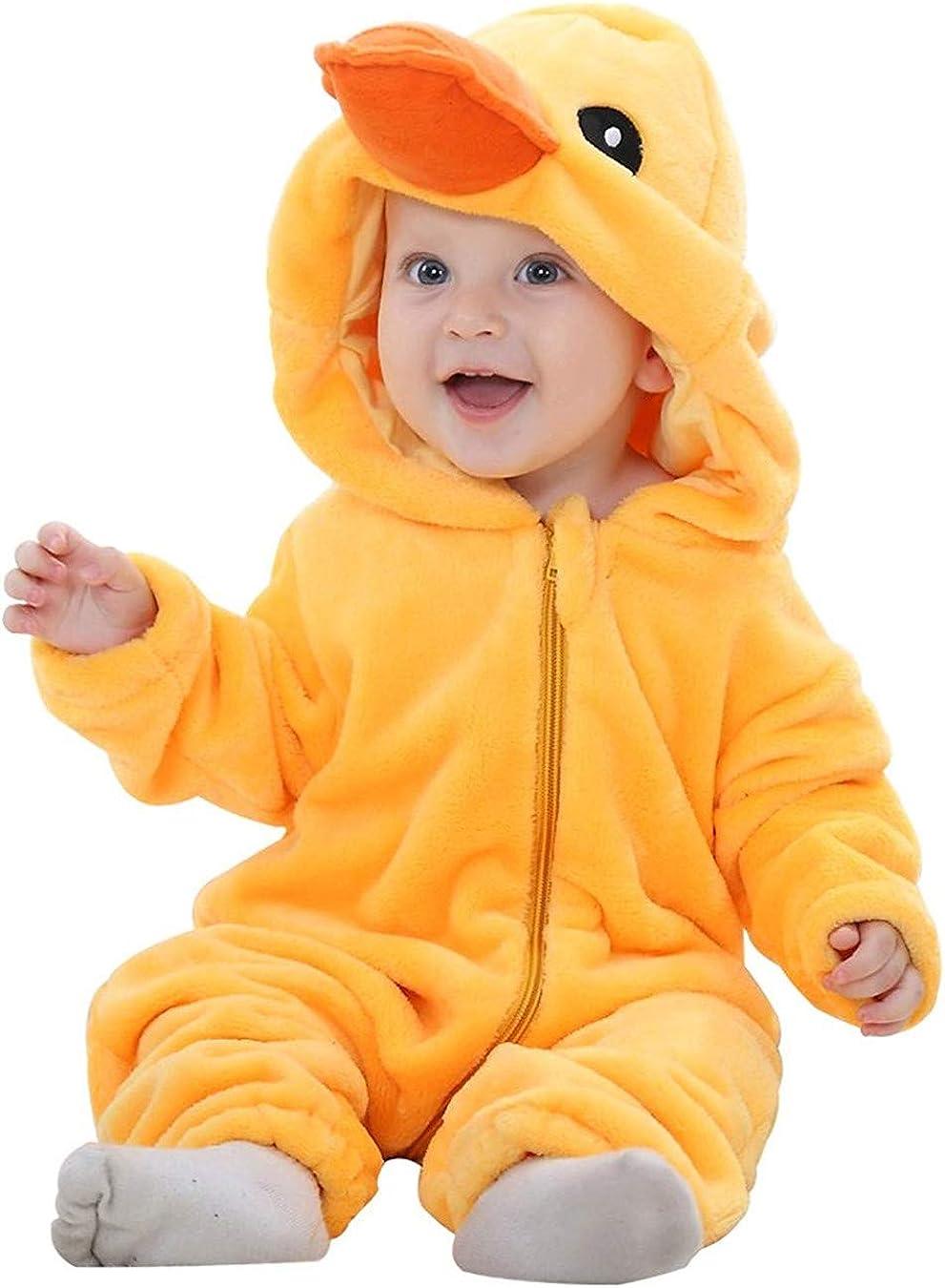 Queque Shine Jumpsuit Beb/é Unisexo Beb/é Reci/én Nacido Franela Mameluco Invierno Ropa Una Pieza Pijamas Animal Caricatura Trajes